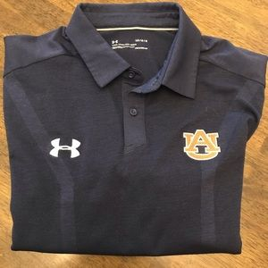 Auburn Tigers UA HeatGear Loose Navy Polo -EUC - L